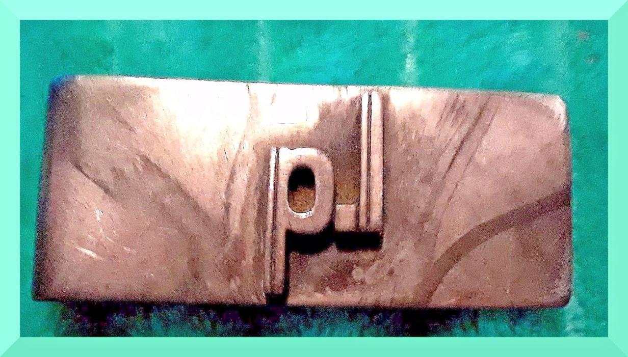 Money Clip For Paper Money Sterling Silver Handmade, PJ,PI or PL Initialled Tone