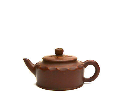 Fine Chinese Yixing Zisha Carved Body Ceramic Teapot with Mark
