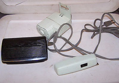 Vintage SINGER Sewing Machine Parts Motor Light Pedal MINT GREEN