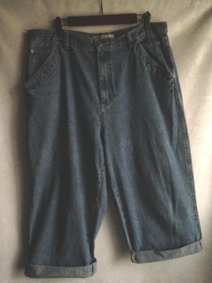 FADED GLORY Pants Denim Blue Jeans Women's Size 18 100% COTTON Casual