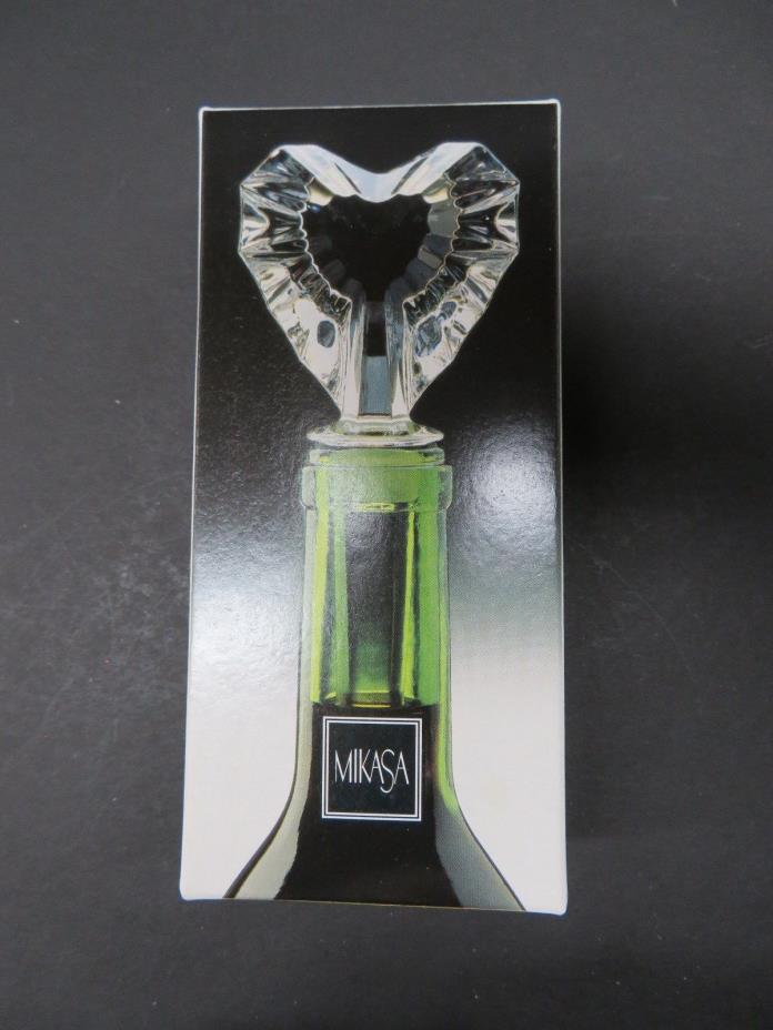 Mikasa Heart-Shaped Glass Wine Stopper - New in Box