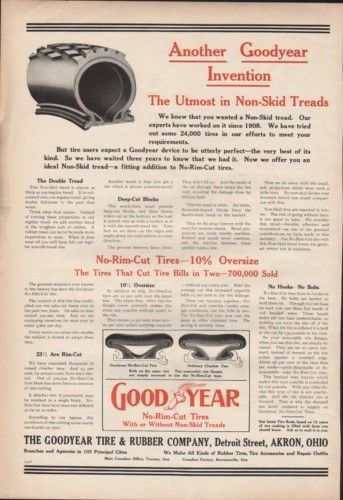 1911 GOOD YEAR TIRE RUBBER MOTOR CAR AUTO AKRON ENGINE7688