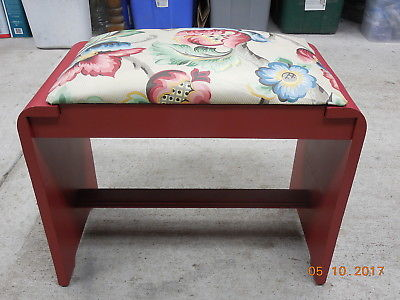 Vintage Wood Waterfall Style Dresser Bench #