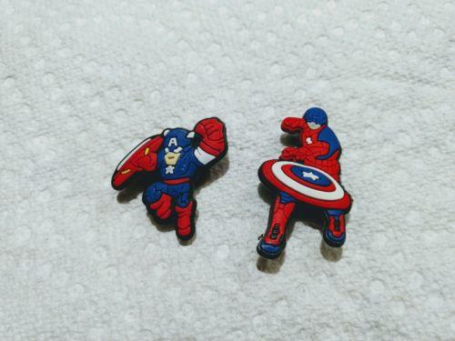 Captain America lot of 2 shoe charm like jibbitz