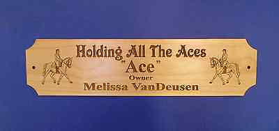 CUSTOM ENGRAVED DRESSAGE HORSE STALL PLAQUE