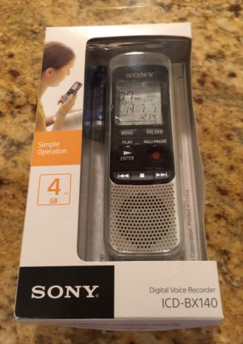 BRAND NEW! Sony ICD-BX140 4GB Digital Voice Recorder NEW!