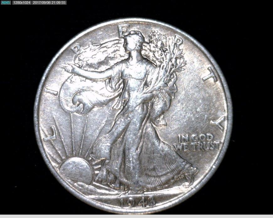 1943  Silver Walking Liberty Half Dollar #A277