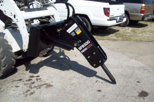 Skid Steer/Mini Excavator Combo Hydraulic Hammer,1000 Lbs Impact,w/Quick Coupler