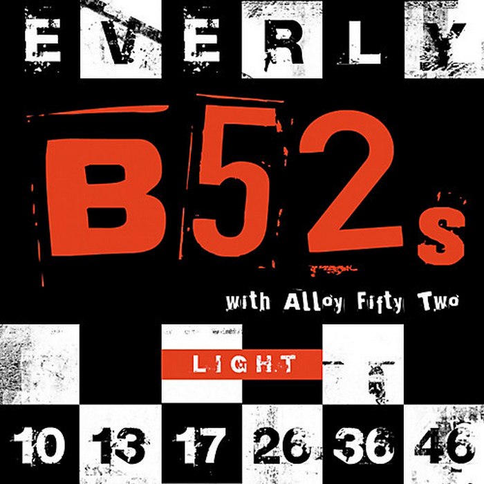 Everly B52's Electric Guitar Strings - Light 10-46