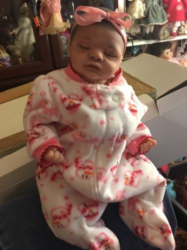 "Handmade Lifelike Baby Girl Reborn Doll Newborn 15"""