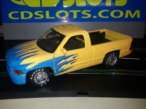 SLOT CAR 1:24 Car DODGE RAM PICKUP 21K motor alum wheels with inserts.