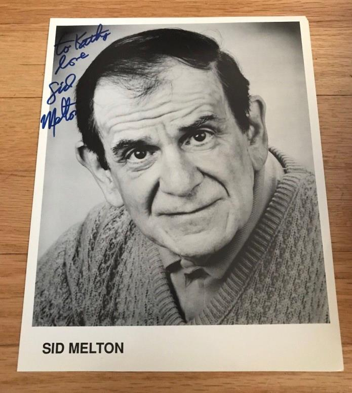 SID MELTON Authentic Signed Autographed 8 x 10