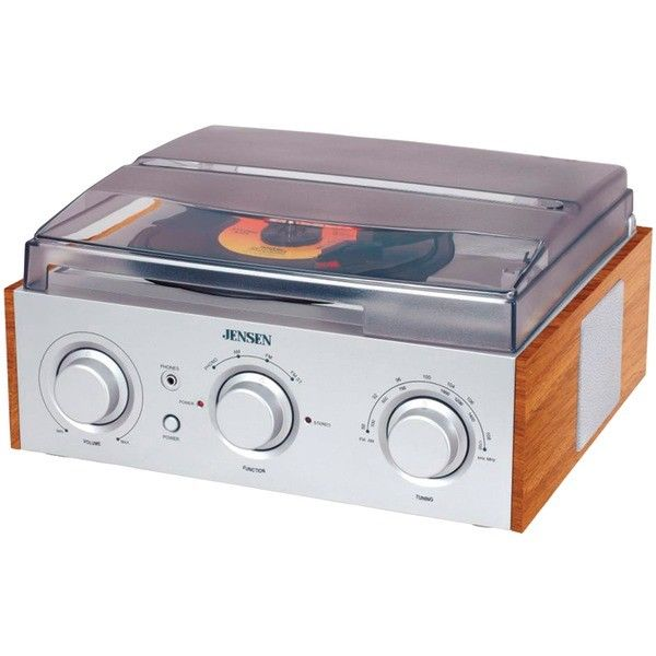 Jensen 3-Speed Stereo Turntable w Am And Fm Receiver & 2 Built-In Speakers New