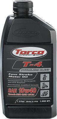 TORCO T-4 4-STROKE MOTOR OIL 10W-40 1L T611040CE