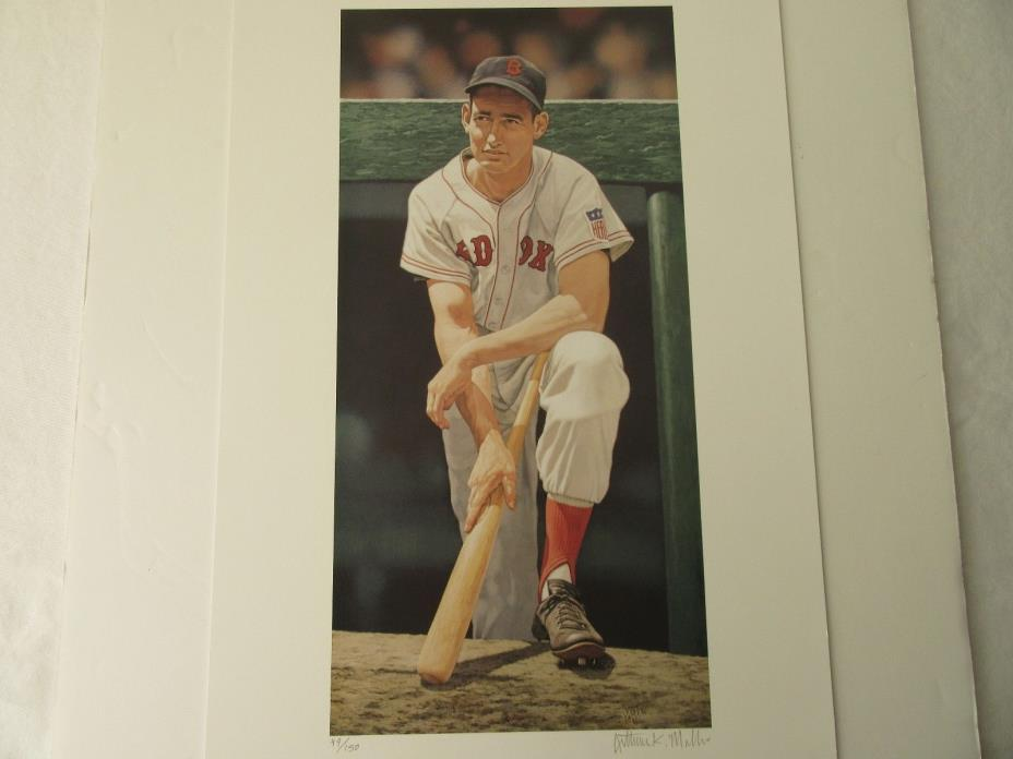 Ted Williams Arthur K. Miller Signed Lithograph LTD #49 of 150 -Mint- Rare- New