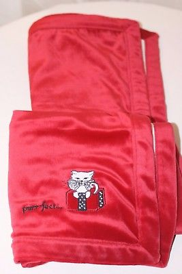 GYMBOREE HOLIDAY RED CAT KITTEN BLANKET ~ NWT