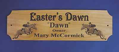 CUSTOM ENGRAVED HUNTER JUMPER STALL PLAQUE