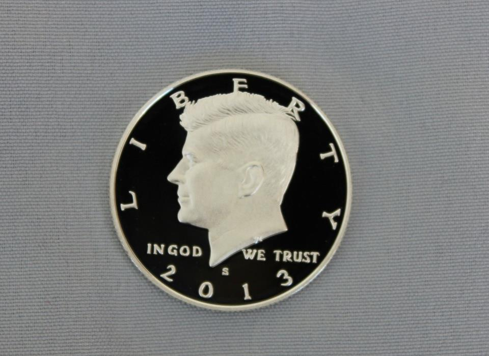 2013-S Kennedy Silver Proof Half Dollar Ultra Deep Cameo!!