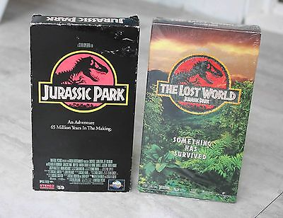 Jurassic Park and Jurassic Park The Lost World VHS - Sci Fi Fantasy - Lot of 2