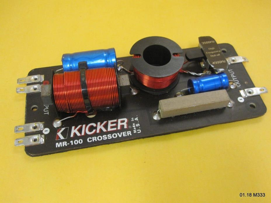 Kicker MR100 Car Audio Passive Mid Range Speaker Crossover