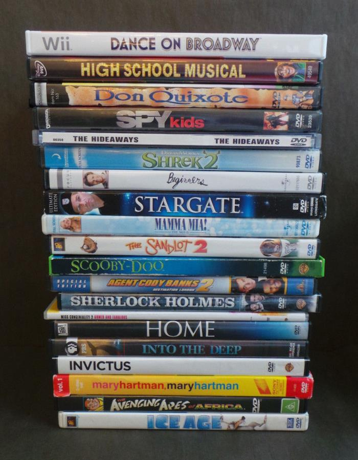 HUGE Lot 20 Family Friendly DVD Collection Animated RomCom Mystery Kids Movies