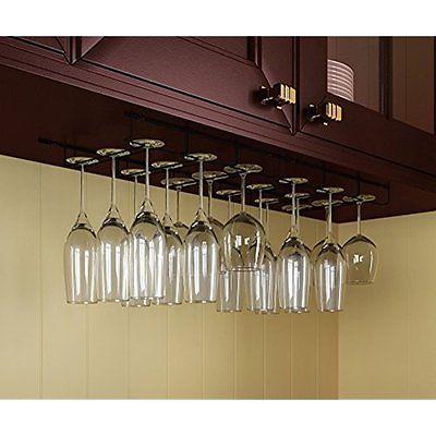 Wine Glass Rack Cabinet Bottle Holder Kitchen Home Bar Hanger 18
