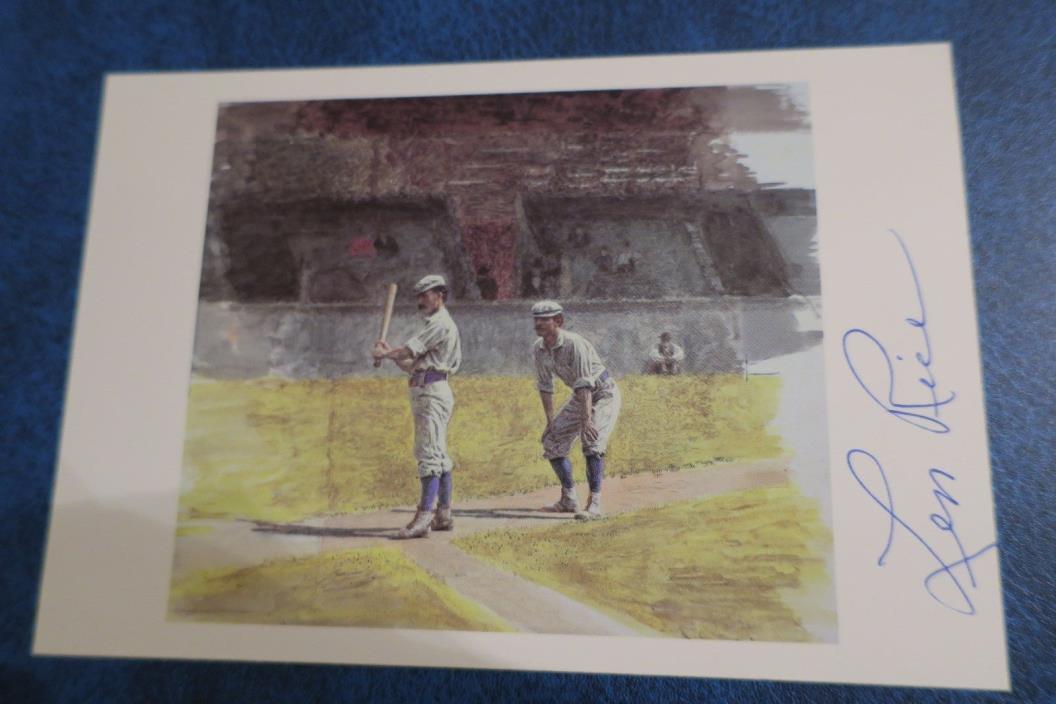 Len Rice Chicago Cubs Baseball Player D-92  Autograph Thomas Eakins Postcard