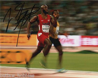 Team USA Lashawn Merritt Autographed Signed 8x10 Photo COA