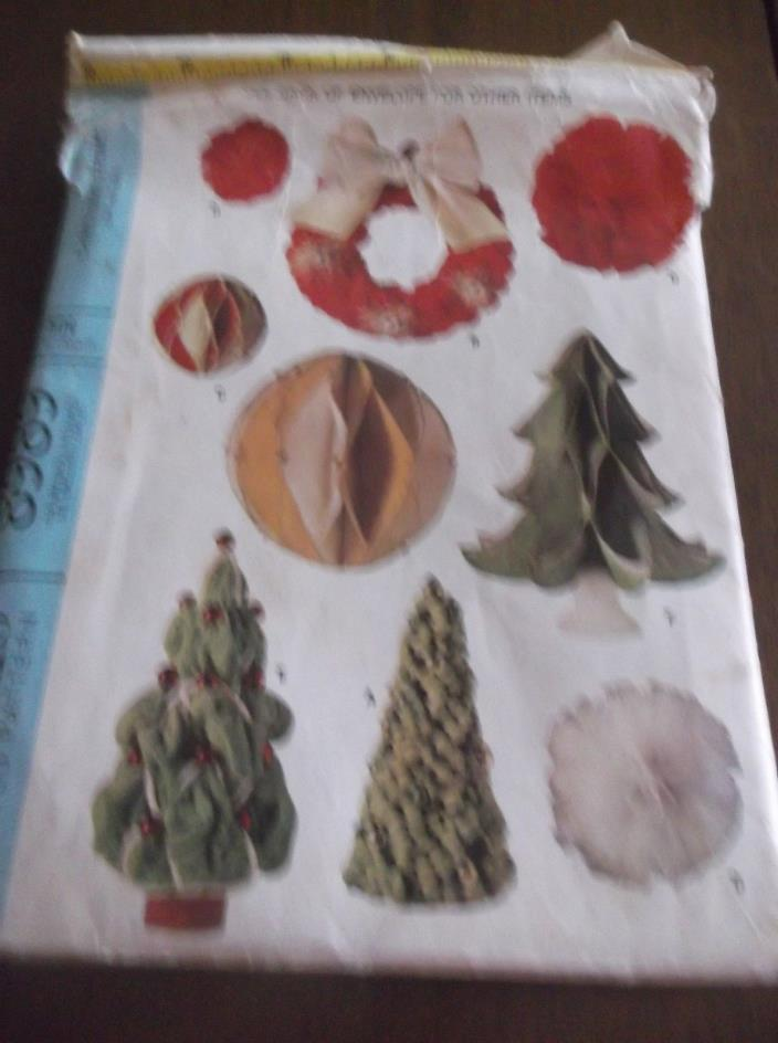 vtg Christmas trims sewing pattern #8989 McCalls