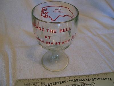 Vintage Original 1970's North Carolina State Fair Stem Goblet