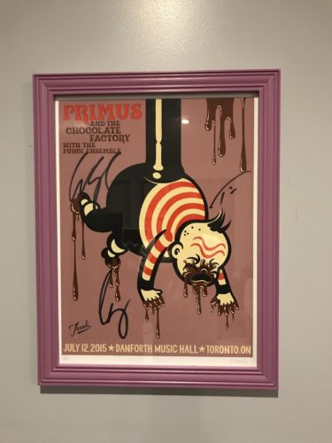 Primus Poster Signed And In Custom Built Handmade Frame