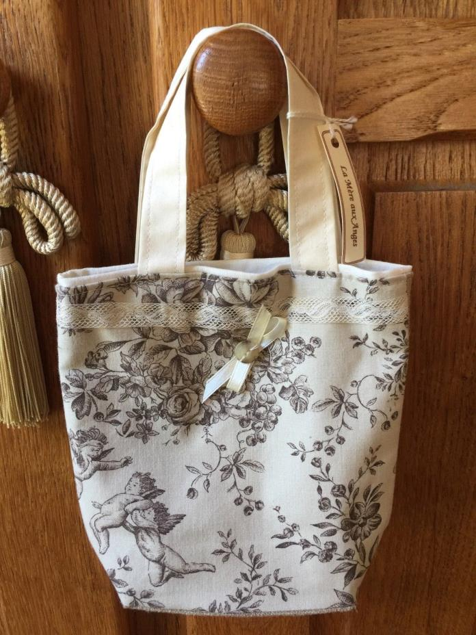 French Country Style Girls Tote in Toile de Jouy Parc Monceau