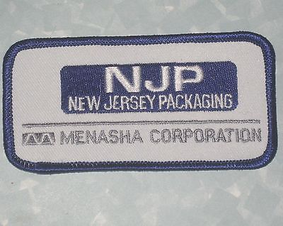 NJP Patch - New Jersey Packaging  - truck driver patch - 4 1/2