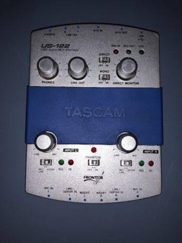TASCAM US-122 USB AUDIO/MIDI INTERFACE