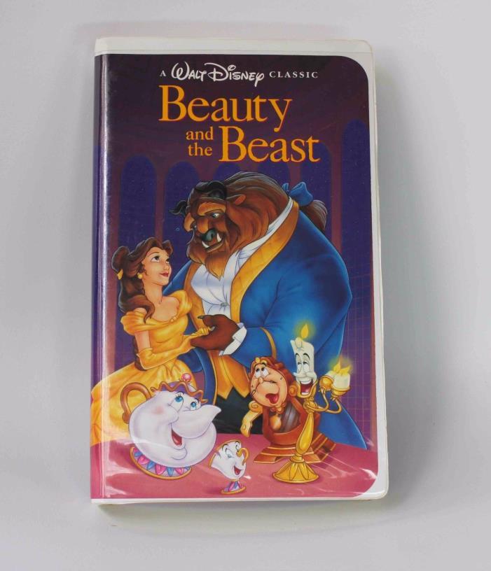 Walt Disney's Beauty and the Beast Black Diamond Classic VHS, 1992 - Good Condit