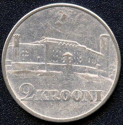 1930 Estonia 2 Krooni Silver Coin (12 Grams .500)