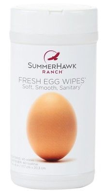 SummerHawk Ranch 33670 Fresh Egg Wipes, 40 Count
