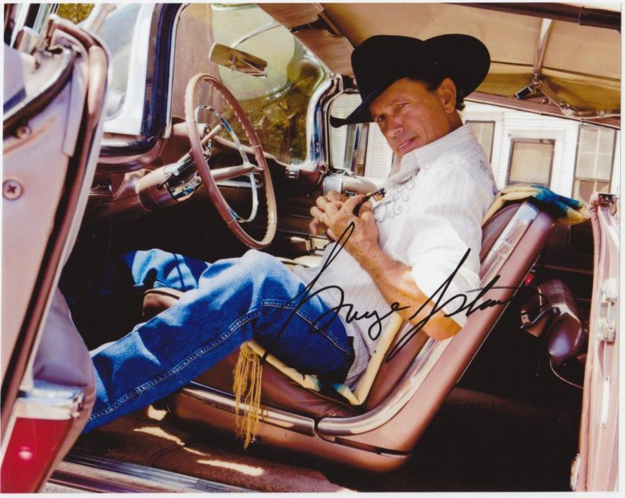 (10) GEORGE STRAIT 8x10 REPRINT PHOTOS & REPRINT AUTOGRAPH ON GLOSSY PHOTO PAPER