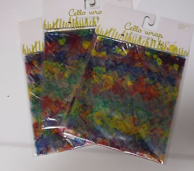 EASTER BASKET Gift Wrap Cellophane Cello Rolls Lot of 3 BAGS CHICKS *BRAND NEW*