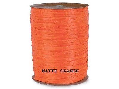 300 feet = 100 yards Matte ORANGE - Raffia Wraphia Gift Wrap - Ribbon Crafts