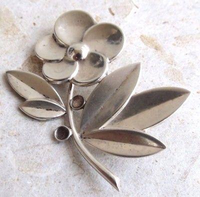 Fine Swedish sterling silver Flavia vintage Flower pin brooch Scandinavian