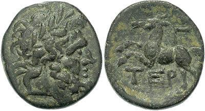 FORVM Termessos Major Pisidia AE18 69-68 BC Head of Zeus / Horse VF