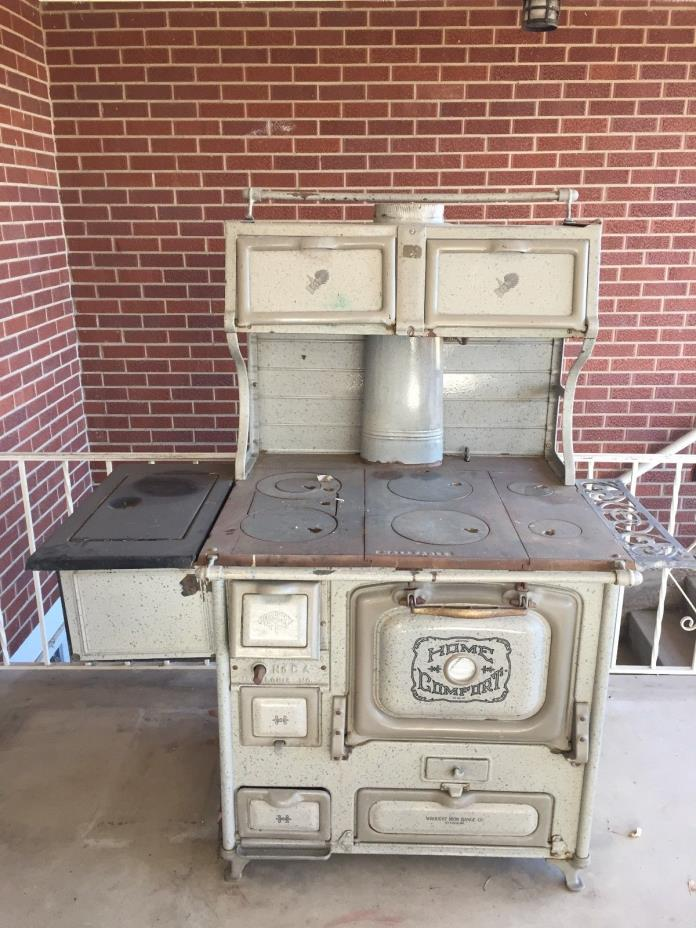 ANTIQUE HOME COMFORT COOKSTOVE ENAMEL WOOD COOK STOVE/FARMHOUSE STOVE circa 1900