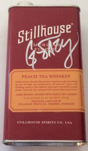 G-Eazy Signed Stillhouse Peach Tea Whiskey Bottle BAS Autographed Gerald Gillum
