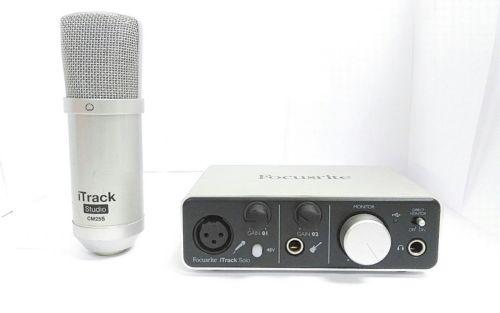 Focusrite ITRACK SOLO LIGHTNING USB Audio Recording Interface For iPad/Mac used