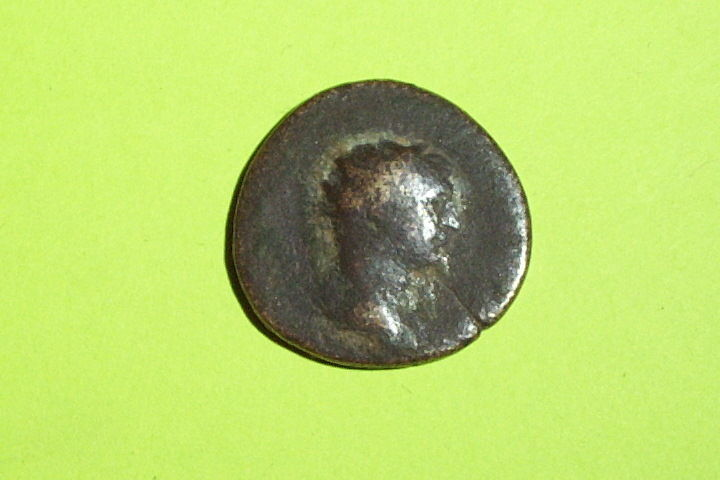 Ancient ROMAN COIN of TRAJAN 98 AD-117 AD wreath SC great gift idea old money ae
