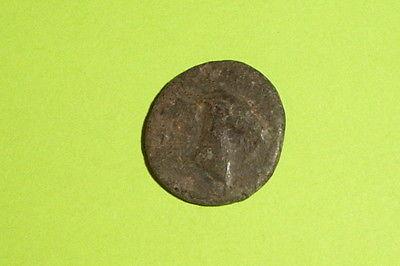 Ancient GREEK COIN goat head AEOLIS AEGAE 300 BC old Apollo treasure mythology
