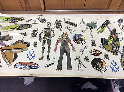 STAR WARS JUMBO STICK UP STICKERS WALL STCKERS 7 SHEETS