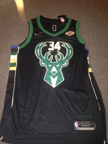Giannis Antetokounmpo Mens Large Miluakee Bucks New NBA Jersey