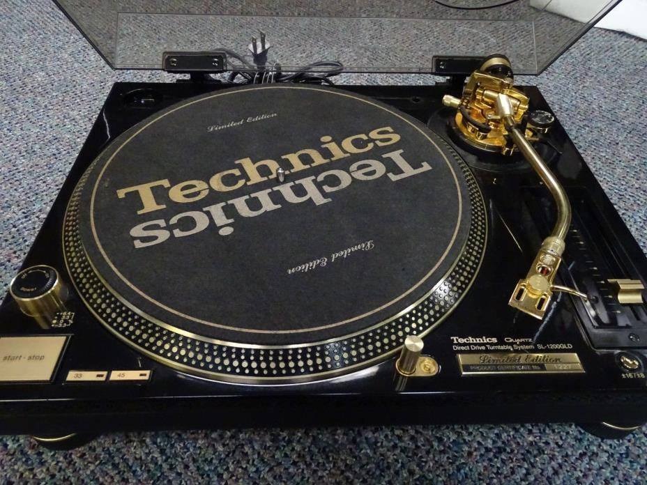 Set of 2 Technics SL-1200GLD 24K Gold Plated Limited Edition-NO RESERVE